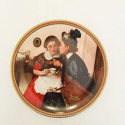 $ CDN5.01 • Buy Norman Rockwell Rediscovered Women Plates, Gossiping In The Alcove. VG