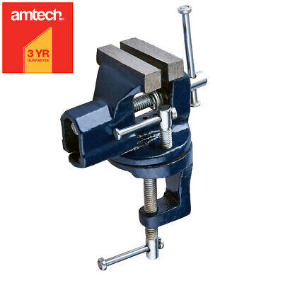 £7.49 • Buy AMTECH® 50mm MINI CLAMP ON BABY BENCH VICE WITH SWIVEL BASE TABLETOP WORKBENCH
