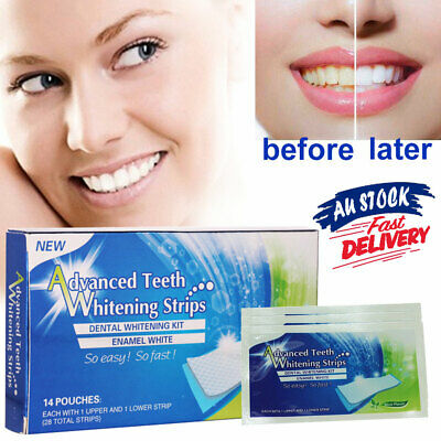 AU10.99 • Buy 28 Tooth Teeth Whitening Strips White Strip Bleaching Advanced Professional