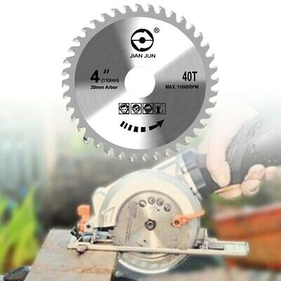 £5.19 • Buy 110mm Circular Saw Blade Disc Wood Cutting 4  40 Teeth Fits For Angle Grinder UK