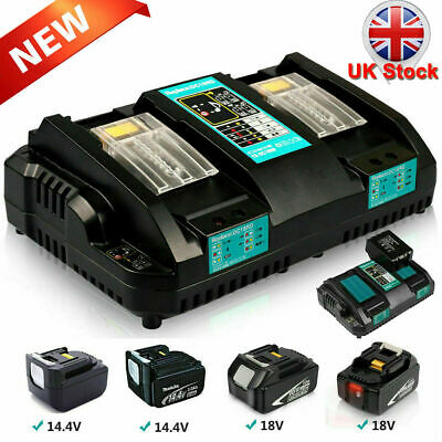 £34.99 • Buy Replace For Makita DC18RD Li-ion LXT 7.2-18v Dual Twin Port Fast Battery Charger