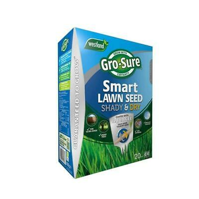 £14.49 • Buy Gro-Sure Smart Lawn Seed Shady & Dry 20sqm Under Trees Dark Areas Grass Seeds