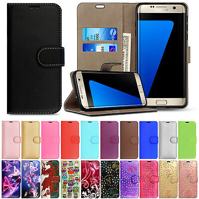 £2.99 • Buy For Samsung Galaxy S7 / S7 Edge Leather Flip Wallet Magnetic Stand Case Cover
