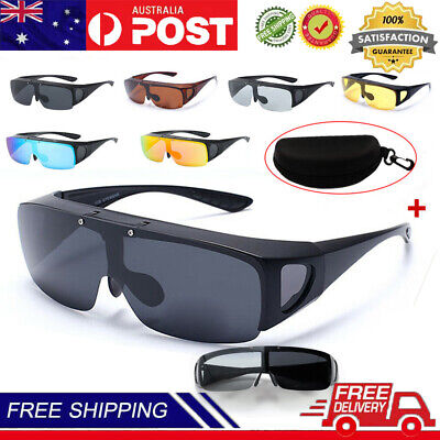 AU16.79 • Buy Large Flip Up POLARIZED Fit Over Sunglasses Wear Rx Glass Fit Driving Anti-UV400