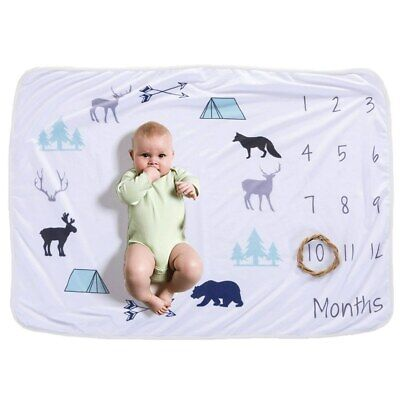 Newborn's Baby Monthly Growth Soft Blankets Photography Prop Background MR • 10.08£