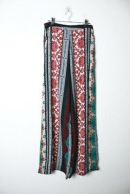 River Island Womens Patterned Palazzo Trousers - Size 6 (L-WW5) • 3.99£