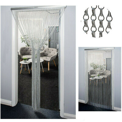 Aluminum Door Curtain Metal Chain Screen Fly Insect Mosquito Blinds Pest Control • 31.99£