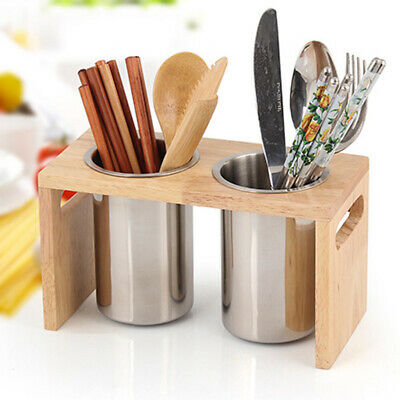 AU34.36 • Buy Cutlery Holder Caddy Pot Utensil Kitchen Drainer Conical Stand Stainless Steel