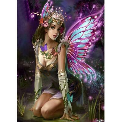 AU10.39 • Buy 5D DIY Full Drill Diamond Painting Butterfly Fairy Cross Stitch Embroidery