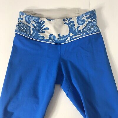 $ CDN48.36 • Buy Lululemon Run For Your Life Sz 2 Ruched Crop Beaming Blue Laceoflage Polar Cream