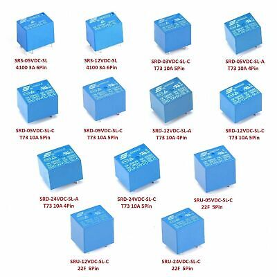 AU3.22 • Buy DC 3V / 5V / 9V / 12V / 24V Mini Power Relays 4-Pins 5-Pins 6-Pins 8-Pins