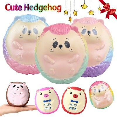 AU12.85 • Buy Cute Hedgehog Jumbo Super Giant Squishy Slow Rising Squeeze Toy Kids Gift Lots