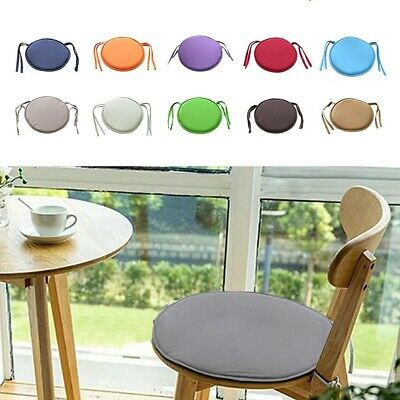 Round Garfen Chair Pads Seat Cushion Outdoor Bistro Stool Patio Home Dining Uk • 3.98£