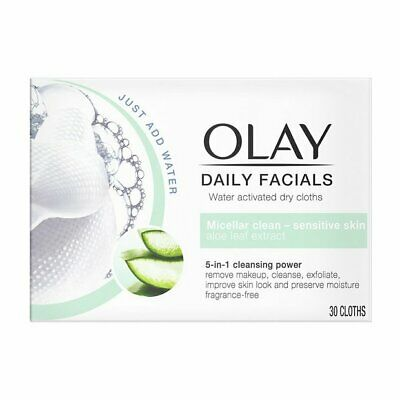 AU24.42 • Buy Olay Daily Facials 5-in-1 Cleansing Power - Micellar Clean - Sensitive Skin UK