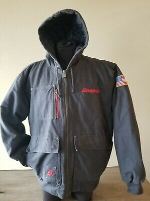 $ CDN120.93 • Buy Excellent! Men's SNAP ON TOOLS Quilted RA Hooded Winter Shop JACKET Sz XL
