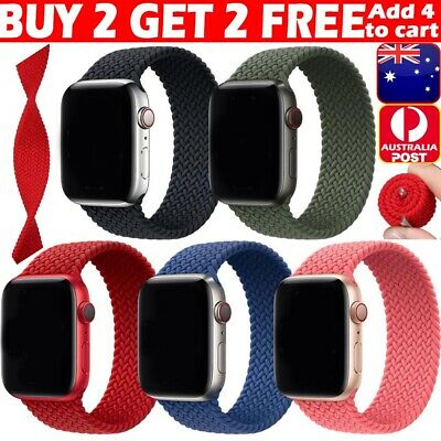 AU11.99 • Buy NEW For Apple Watch 6 5 4 3 SE 38/40/42/44 Mm Nylon Band Braided Solo Loop Strap