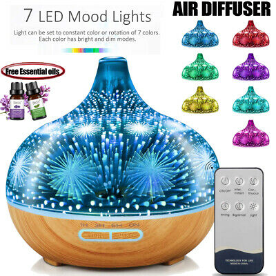AU8.89 • Buy Aroma Diffuser Aromatherapy 3D Ultrasonic Humidifier Essential Oil Air Purifier