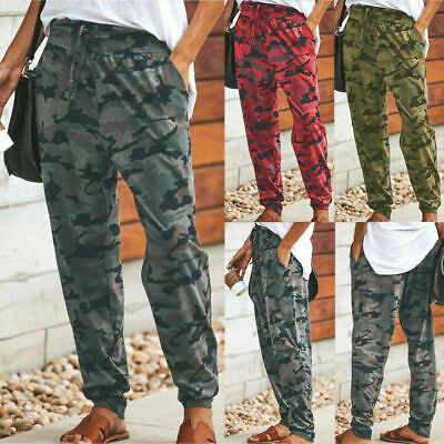 £8.85 • Buy UK Womens Camo Print Joggers Trousers Ladies Tracksuit Bottoms Jogging Gym Pants