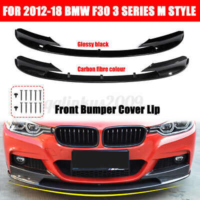 AU69.99 • Buy AU!! For BMW 12-18 F30 3 Series Front Bumper Cover Lip Surface M Style Glossy
