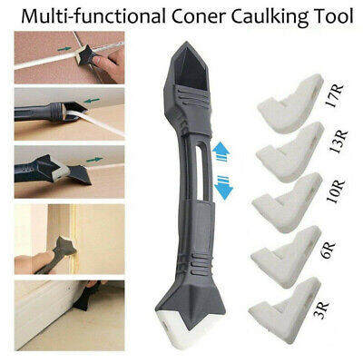 £4.01 • Buy Silicone Scraper Caulking Grouting Sealant Finishing Clean Remover Tool 3in1 UK