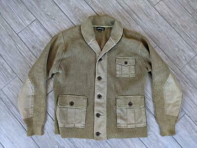 $99.95 • Buy ORVIS Vintage Style CHUNKY Cotton Knit XL Military Mechanic CARDIGAN Sweater