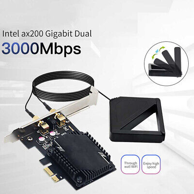 £9.89 • Buy Wireless Network Card Antenna 3000M WiFi6 Pcie Signal Dual Frequency Gaming