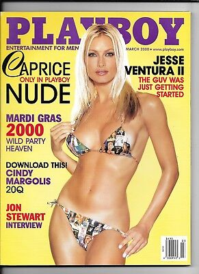 $ CDN14.99 • Buy Back Issue March 2000 Playboy Magazine ~ Caprice Cover & Nude ~ Nicole Lenz