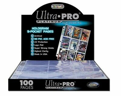 2 X 100 PAGES - ULTRA PRO 9-POCKET TRADING CARD A4 SLEEVES SECURE PLATINUM • 39.99£