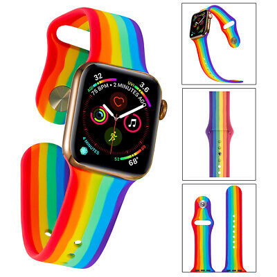 $ CDN6.91 • Buy Apple Watch Strap Silicone Band For IWatch Series 6 5 4 3 SE 38/40/42/44mm Sport