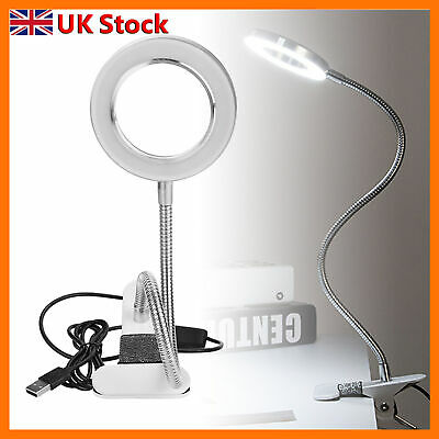 £15.22 • Buy Portable Desk TableSalonTattoo Magnifier Lamp 8XMagnifying Glass Beauty Light