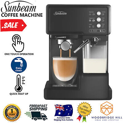 AU201.93 • Buy SUNBEAM Coffee Machine With Milk Frother Espresso Cappuccino Cafe Barista NEW