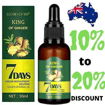 AU18.49 • Buy Regrowth 7Day Ginger Germinal Hair Growth Serum Hairdressing Oil Loss Treatment