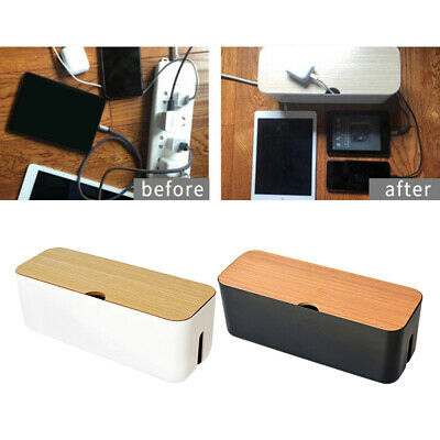 Cable Management Box Organizer With Cover For Desk, Wall Mounted TV, Video, Game • 12.75£