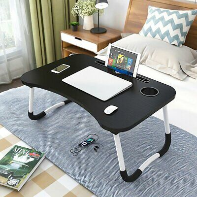 £13.95 • Buy Folding Laptop Bed Tray Table Portable Desk Notebook Stand Breakfast Cup Slot