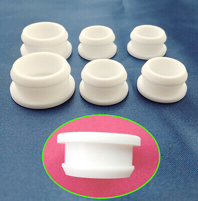 AU19.03 • Buy White Snap-on Insert Bung Silicone Hole Plug Blanking End Cap Tube Pipe