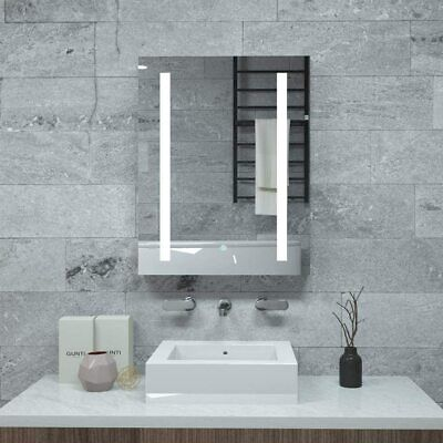 £57.99 • Buy Bathroom Illuminated LED Mirror&Cabinet With Shaver Socket Demister Touch Switch