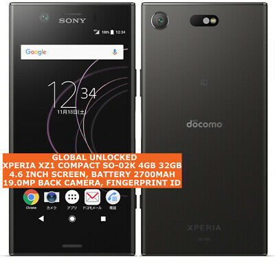 AU314.87 • Buy SONY XPERIA XZ1 COMPACT SO-02K 4gb 32gb DOCOMO Unlocked Japan Version Smartphone