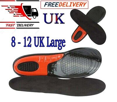 £5.29 • Buy Work Boot Insoles Hiking Trainer Inner Soles Foot Inserts Silicone Gel Size 8-12
