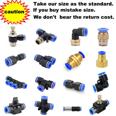 £3.49 • Buy Nylon Pneumatic Hose Tube Inline Push Fit Connector Air Line Airline Elbow 90 Y