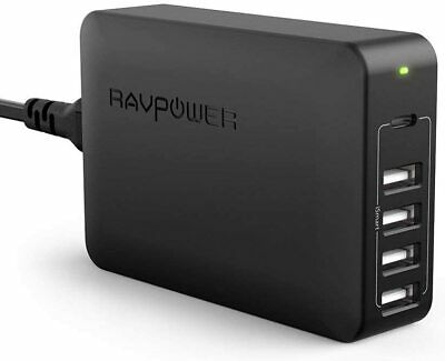 AU50.82 • Buy USB C Pd Charger, RAVPower 60W 5-Port USB Desktop Charging Station With 45W Pow