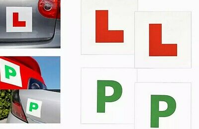 £2.99 • Buy 4x Car Magnetic L & P Plates Learner New Driver Passed Sticker Safe Sign