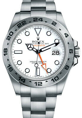 $ CDN16866.05 • Buy Authentic Rolex Explorer II 216570 White Dial GMT Automatic Steel Men's Watch