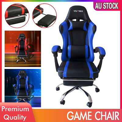 AU108.99 • Buy Gaming Chair Executive Office Chairs Computer Seating Racing Recliner Footrest
