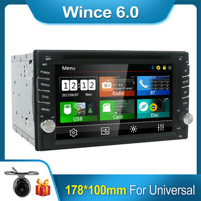 $151.20 • Buy Car DVD CD Player Radio For Universal GPS Navi Bluetooth Mirror Link RDS SWC FM