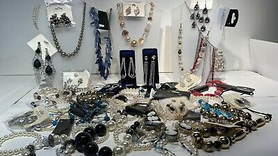 Job Lot Of Costume Jewellery Necklaces  Earrings Flapper Cabaret Fashion 45 Item • 50£