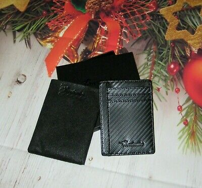 $6.71 • Buy Travelambo RFID Wallet Front Pocket Minimalist Carbon Fiber Leather *New In Box*