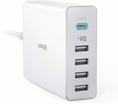 AU94.14 • Buy Anker PowerPort + 5 USB-C Power Delivery White 60W 5-port USB-A PSE PowerIQ PD M