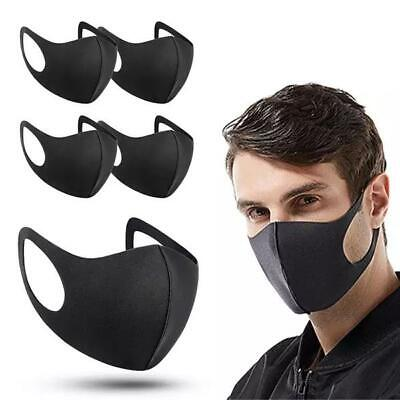 £2.75 • Buy 5 X Adult Face Masks Black Reusable Washable Breathable Dust Pollution Covering