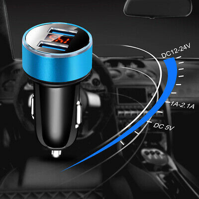 $3.40 • Buy Dual Ports 3.1A USB Car Cigarette Charger Lighter Digital LED Parts Accessories