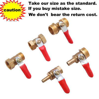 £3.89 • Buy Brass Shut-off Ball Valve Lever Handle BSP Female Male Hose Barb Connector Air
